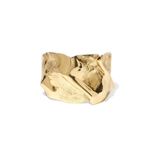 Cornelia Webb Folded Gold-Plated Cuff