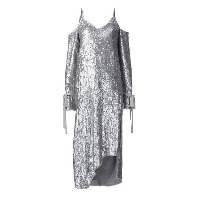 Magda Butrym Cut-Out Sequin Dress