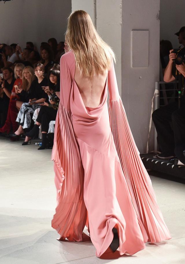 Prabal Gurung runway pink dress