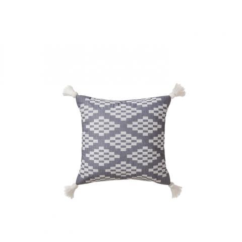 Herringbone Embroidered Square Decorative Pillow