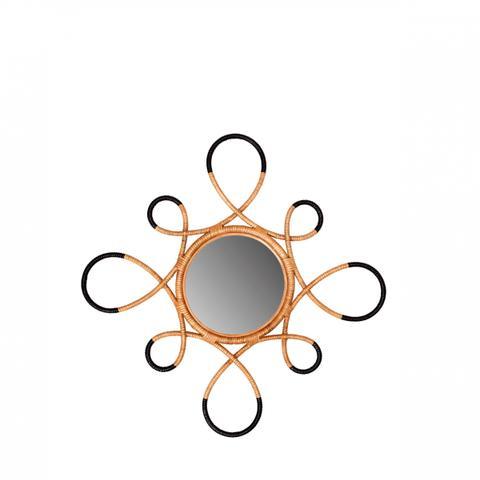 Circular Rattan Wall Mirror