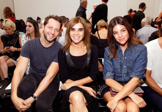 Derek Blasberg, Carine Roitfeld, and Julia Restoin Roitfeld