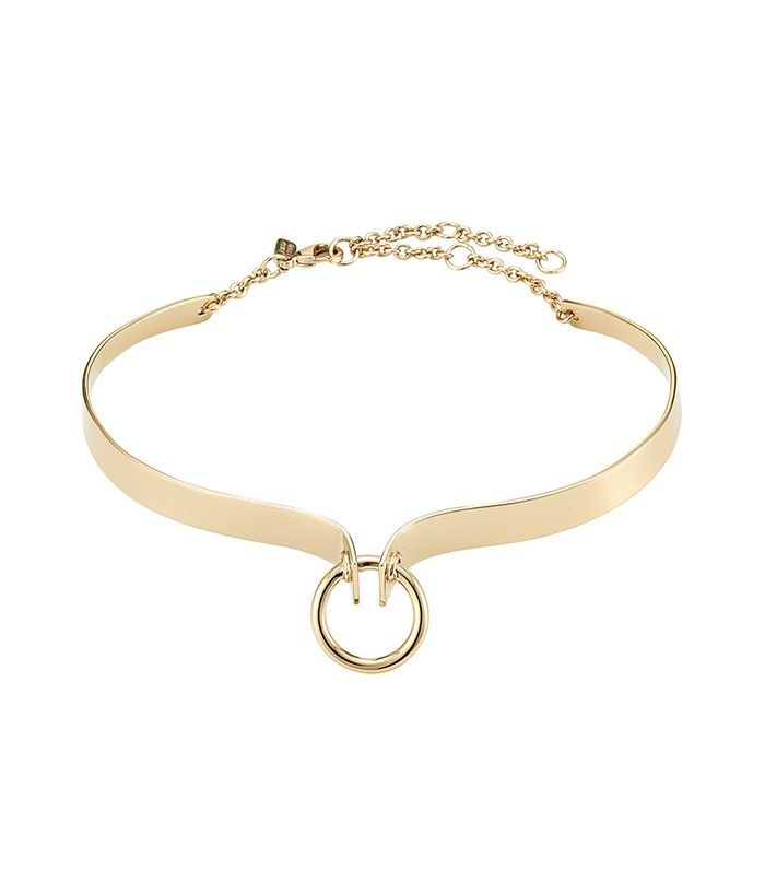 Alexis Bittar Brass Choker with Ring