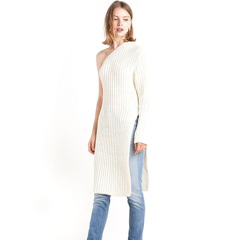 One Shoulder Sweater Tunic
