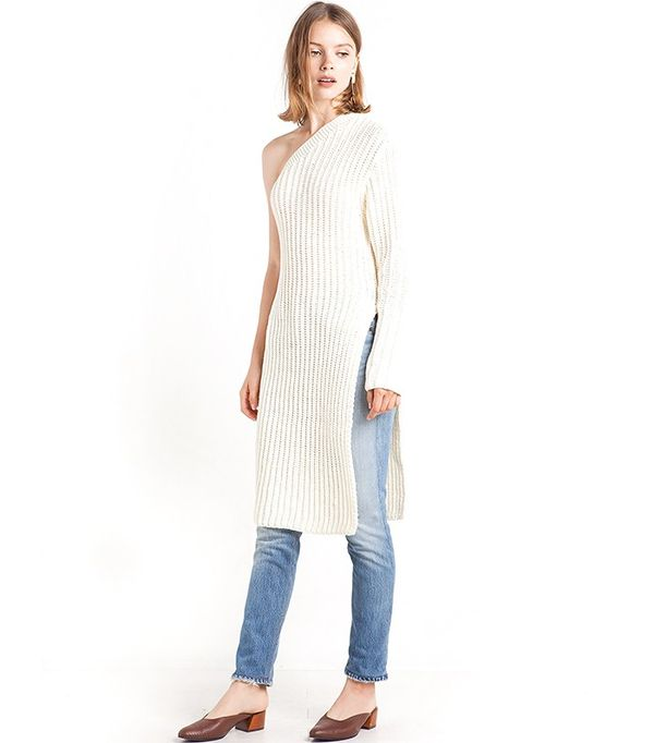 Pixie Market One Shoulder Sweater Tunic