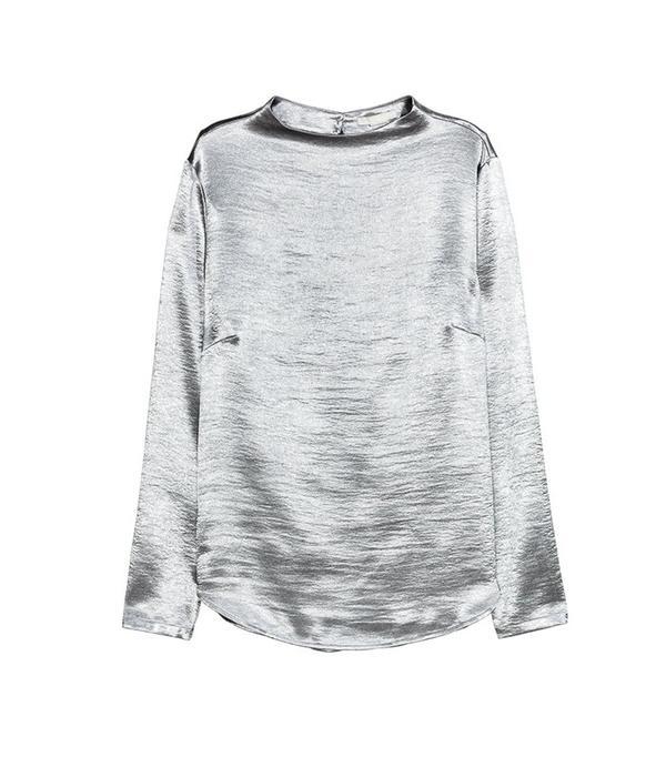 H&M Metallic Blouse