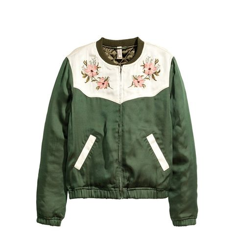 Embroidered Pilot Jacket
