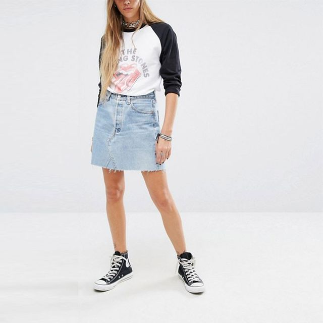 Reclaimed Vintage Denim Skirt