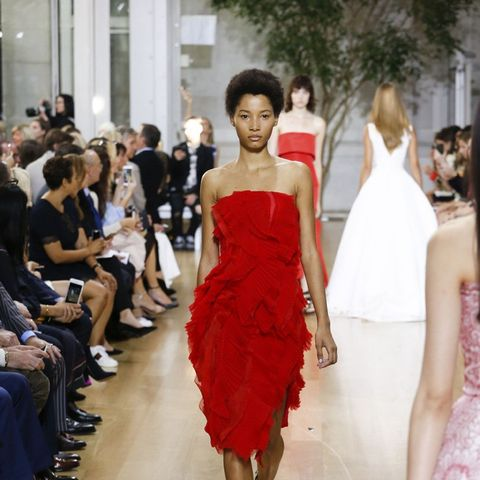 Models at Oscar de la Renta Wore Flats With Their Ball Gowns