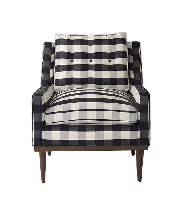 Schoolhouse Electric Jack Chair in Windowpane Plaid