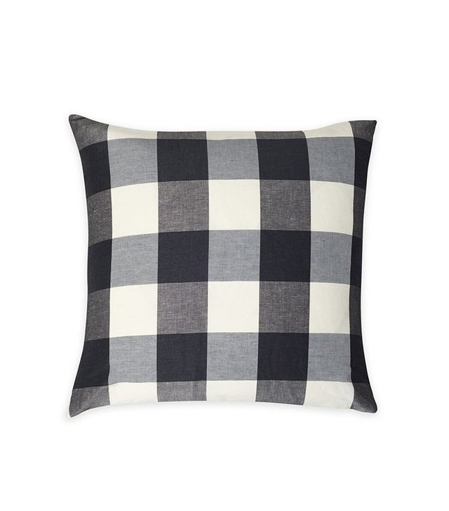 Consort Black and White Buffalo Check Pillow