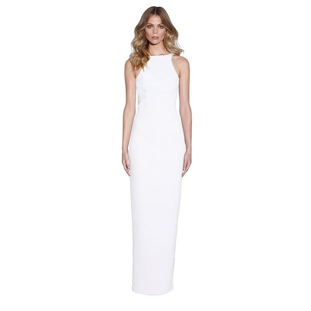 By Johnny Marble Tones V-Back Dress