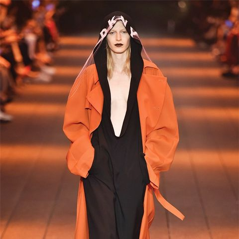 See Bella Hadid Walk the DKNY Show for the First Time Ever