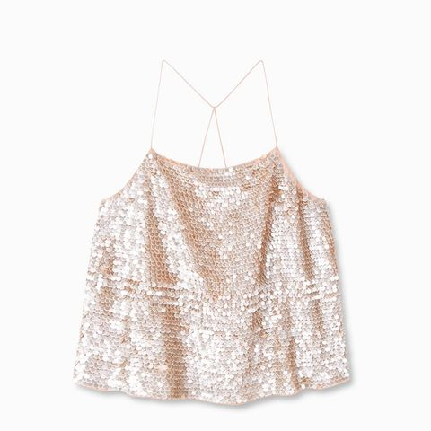 Sequined Strap Top