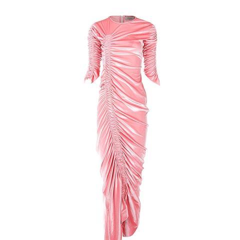 Pink Velvet Hitch Dress
