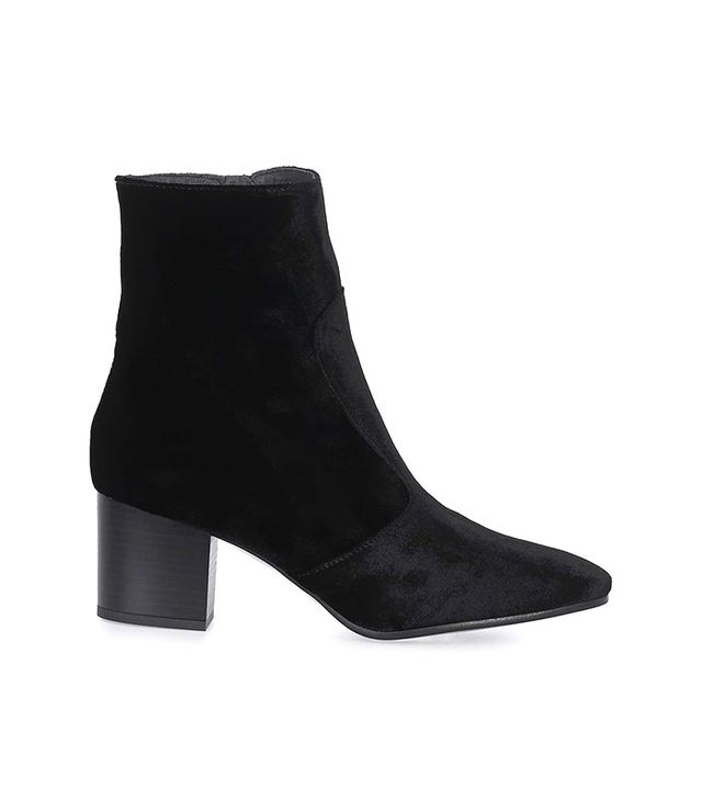 Topshop MOSCOW Velvet Western Boots