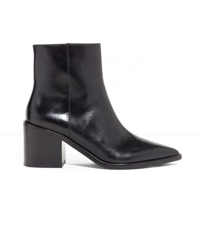 & Other Stories Pointy Block Heel Boots