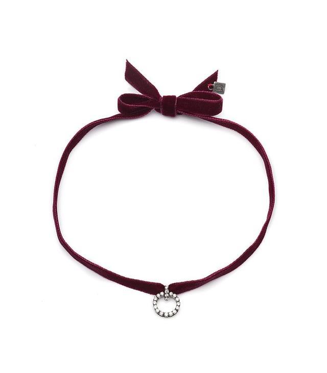 Dannijo Vix Velvet Choker Necklace
