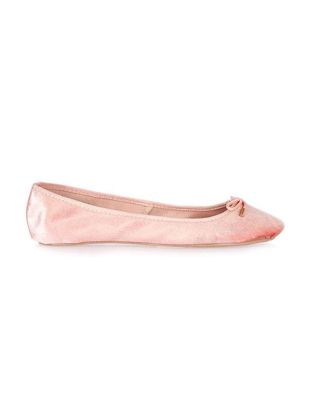 Topshop Vibrant Velvet Ballet Pumps