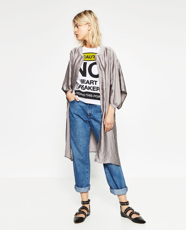 Zara Satin Efect Jacket