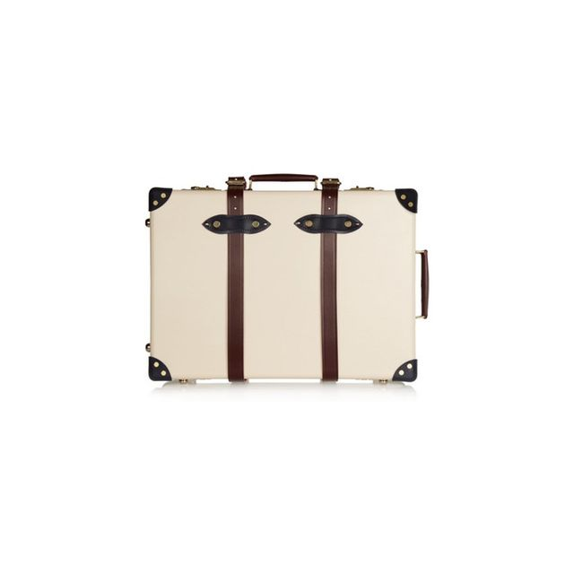 "Globetrotter The Goring 21"" leather-trimmed fiberboard travel trolley"