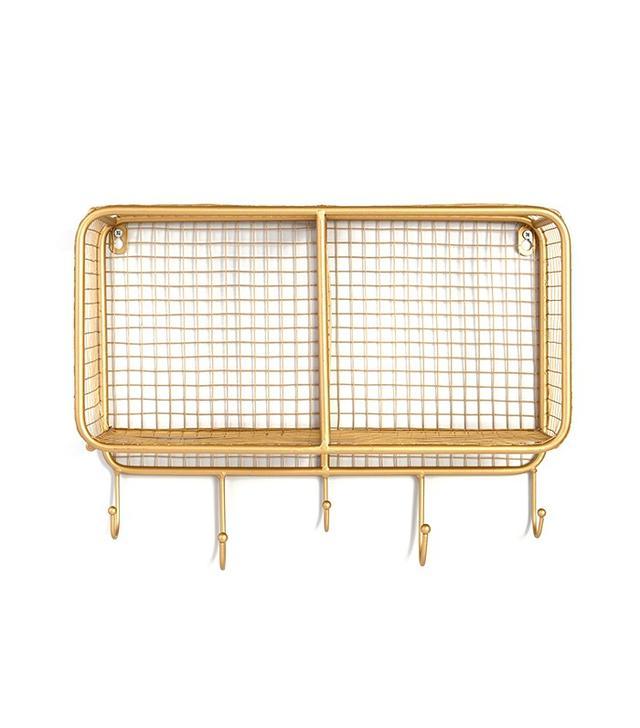 World Market Gold Wire Braedyn 2-Bin Wall Storage