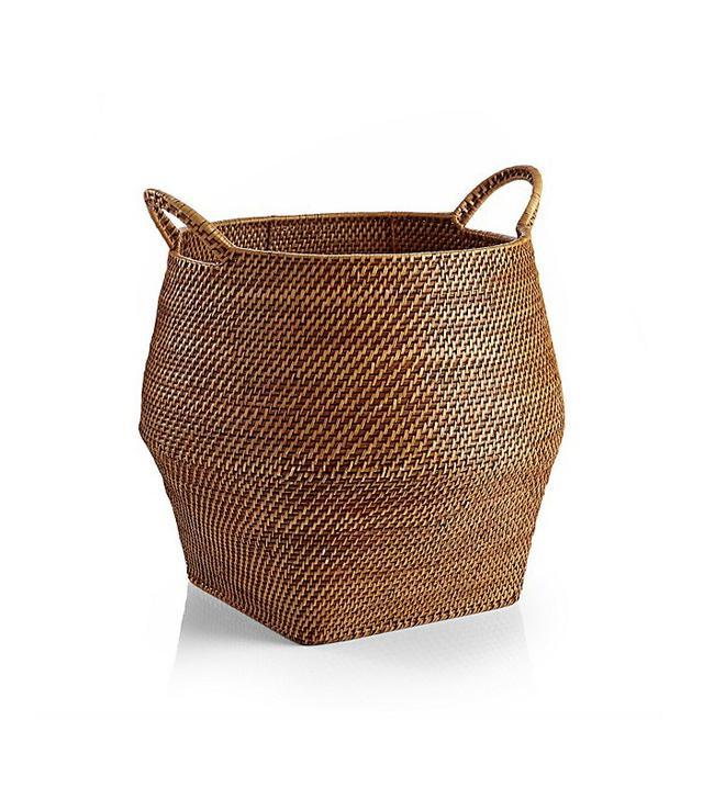 Crate and Barrel Sedona Rattan Storage Basket
