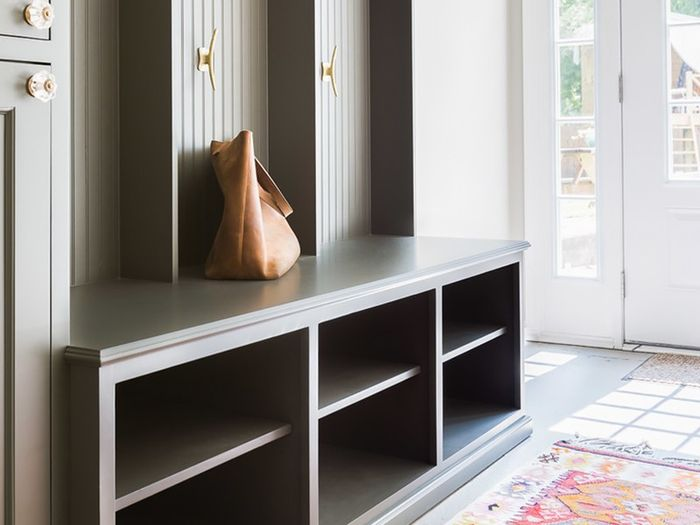 how to create a chic mudroom when you don't have one | mydomaine Mudroom Ideas