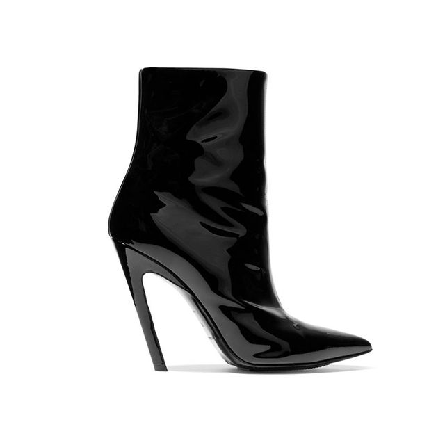 Balenciaga Patent Black Ankle Boots