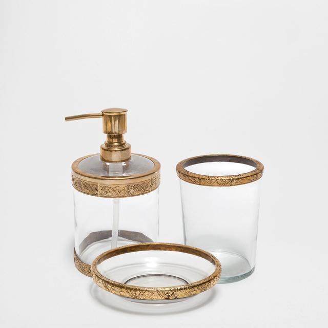 Zara Home Crystal and Metal Bathroom Set