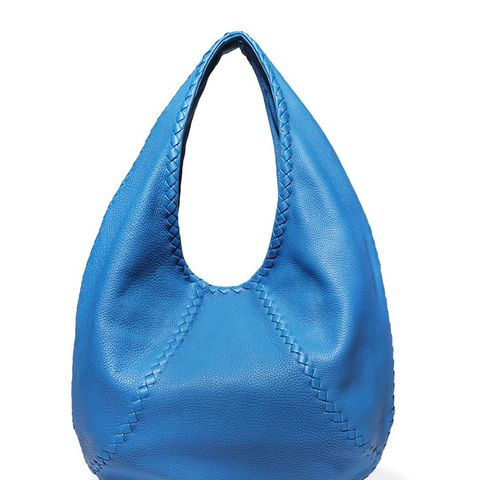 Intrecciato Textured-Leather Shoulder Bag
