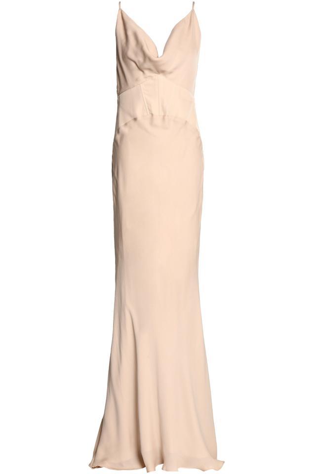 Haute Hippie Draped silk gown