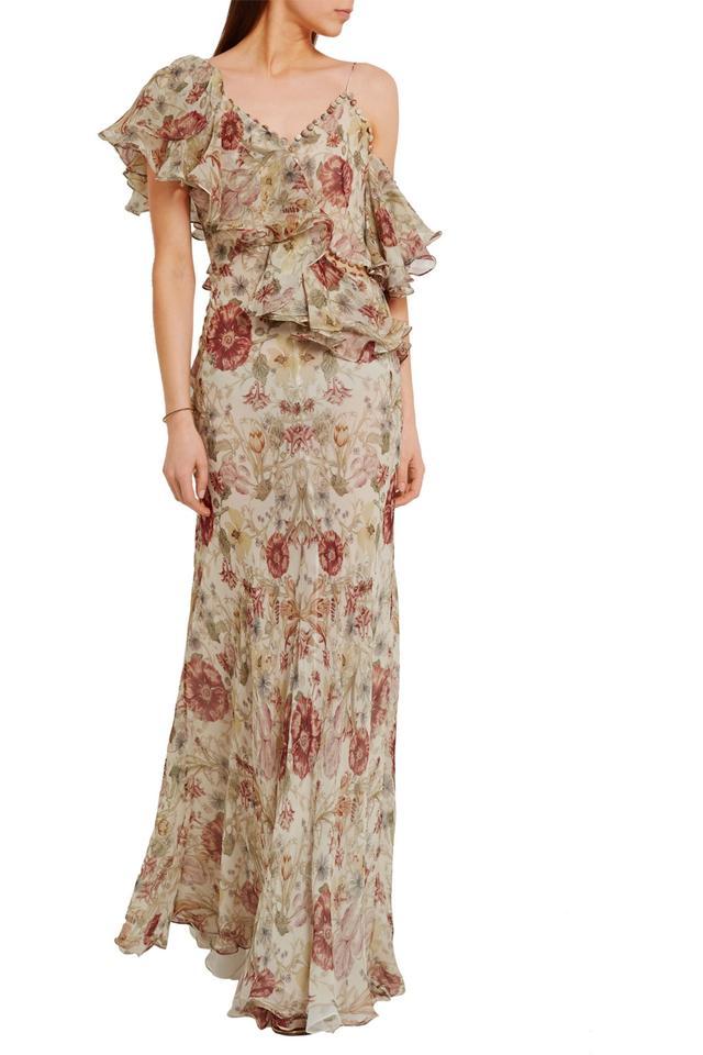 Alexander McQueen Ruffled floral-print silk-georgette gown