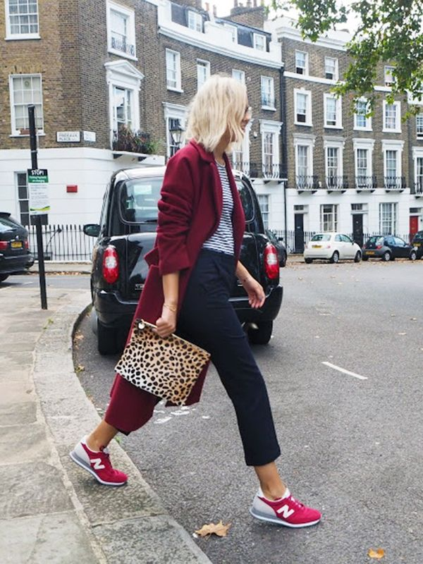 Style Notes: We did give you a heads up a while back about this shade of burgundy being very important, and here's Alex Stedman of The Frugality making it unique for autumn with a pop of...