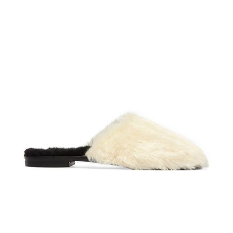 Aspen Faux Fur and Shearling Slippers