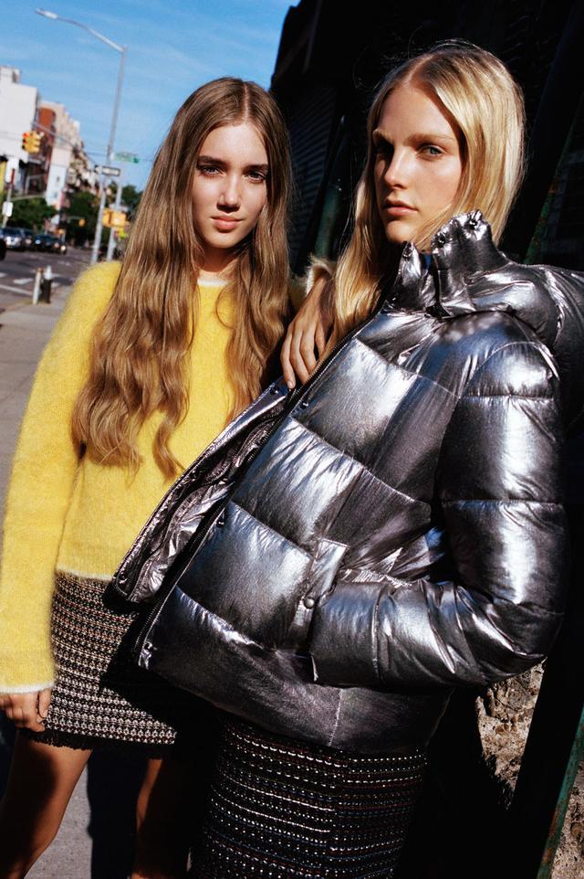 Zara Metallic Puff Jacket