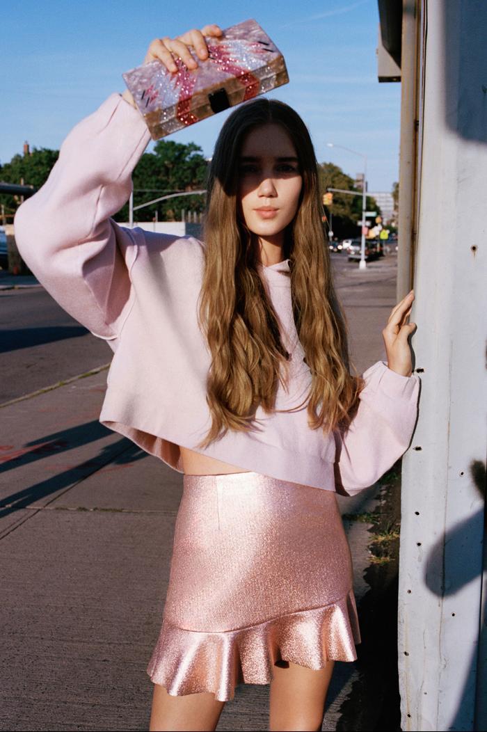 Zara Mini Skirt with Frill Hem