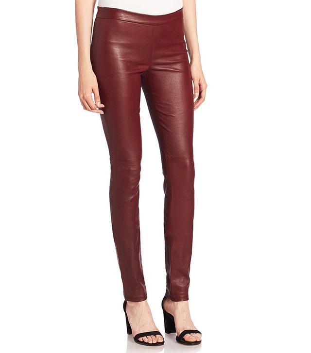 Theory Adbelle Leather Leggings