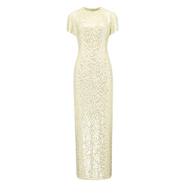 Jonathan Saunders Buttermilk Silk Sequin Sidney Dress