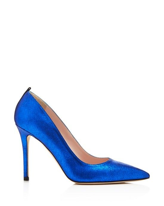SJP by Sarah Jessica Parker Fawn Metallic Pointed Toe High Heel Pumps