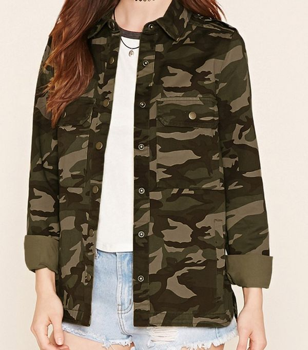Forever21 Camouflage Military Jacket