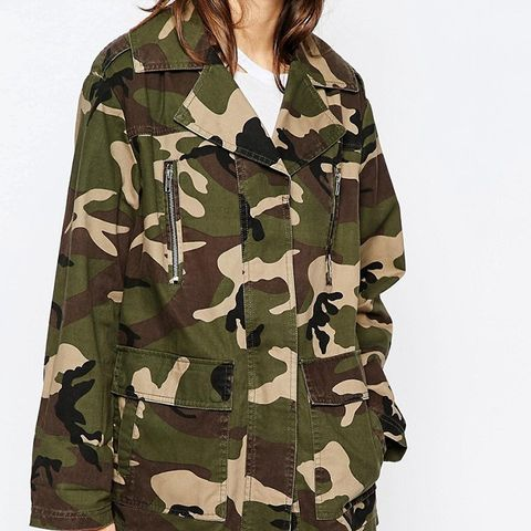 Jacket in Camo Print