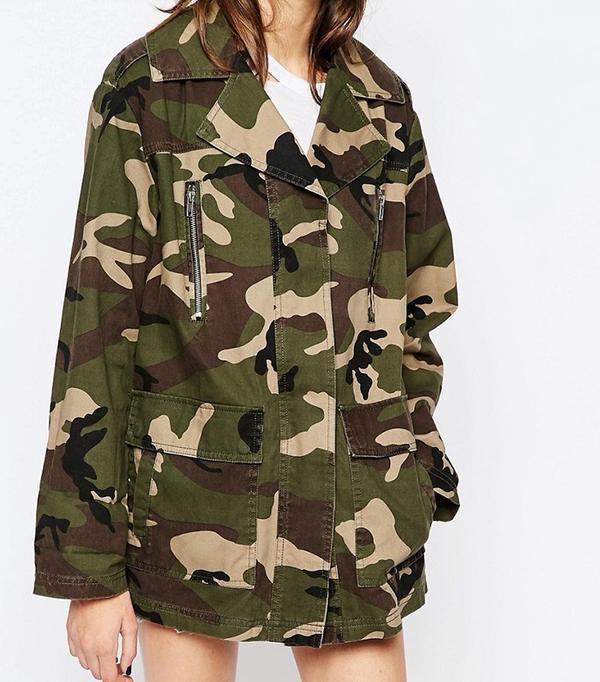 ASOS Jacket in Camo Print