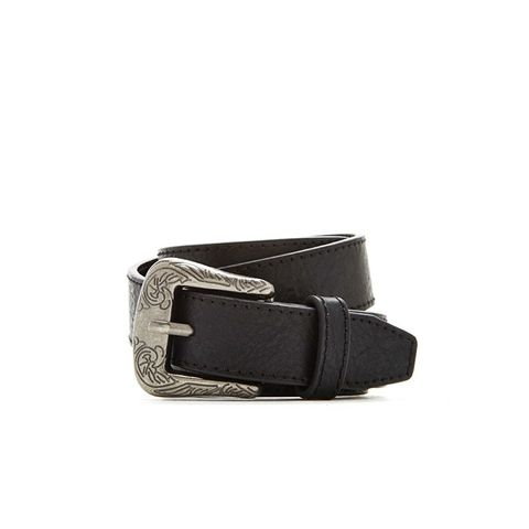 Distressed Faux Leather Belt