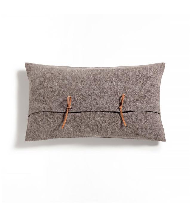 Zara Home Brown Linen Cushion Cover