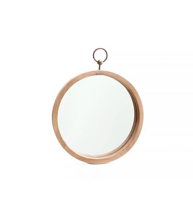 Zara Home Wood Mirror With Metallic Handle