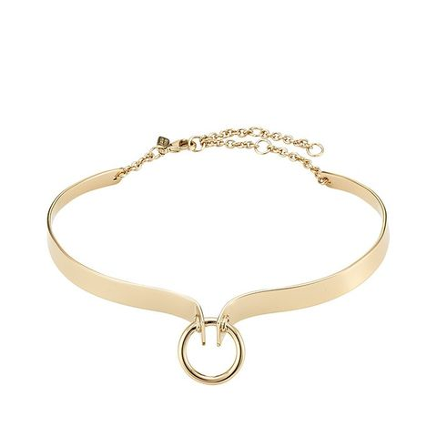 Brass Choker with Ring