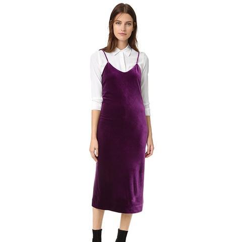 Yoshi Velvet Slip Dress