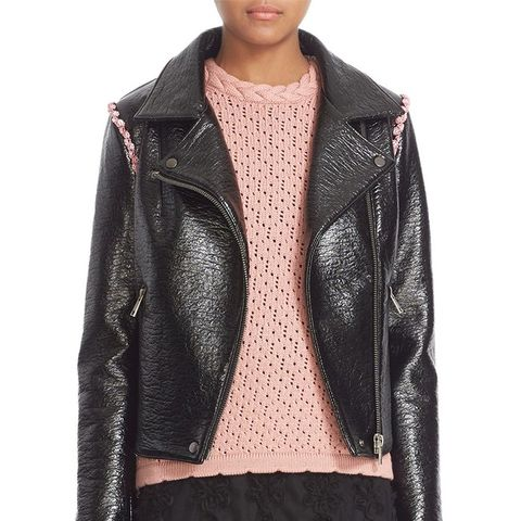 'Rose' Faux Leather Jacket