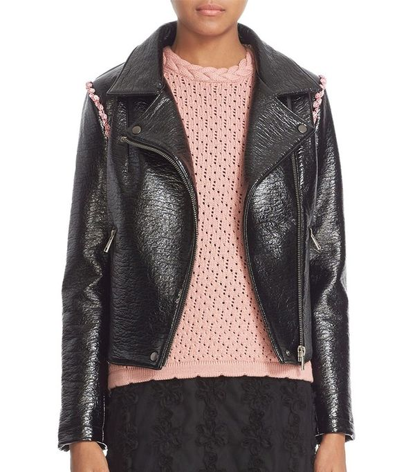 Shrimps 'Rose' Faux Leather Jacket